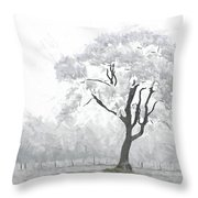 The Winter's Embrace Throw Pillow