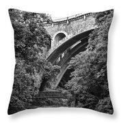 The Wissahickon Creek And Henry Avenue Bridge Throw Pillow