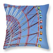 The Wonder Wheel At Odaiba Throw Pillow