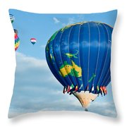 The World Aloft Throw Pillow