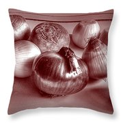The World In Red And Black Throw Pillow