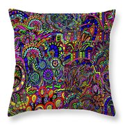 The World Largest Migraine Artwork Throw Pillow