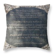 The World Peace Flame Throw Pillow