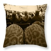 The World Thru Leopard Printed Pants Throw Pillow