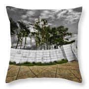The World War Two Monorail Throw Pillow
