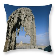 The Worlds Only Active Natrocarbonatite Throw Pillow