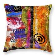 The Woven Stitch Cross Dance Throw Pillow