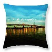 The York River Throw Pillow by Bill Cannon