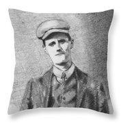The Young James Joyce Throw Pillow