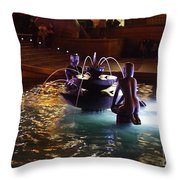The Youth Fountain Throw Pillow