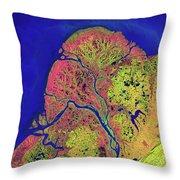 The Yukon Delta In Southwest Alaska Throw Pillow