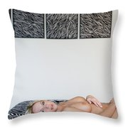 The Zebra Room Throw Pillow