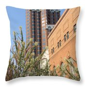 Theater District And City Flowers Throw Pillow