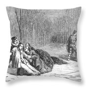 Theater: Duel, 1860 Throw Pillow