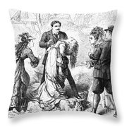 Theater: False Shame, 1872 Throw Pillow