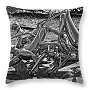 Then The Trouble Started Monochrome Throw Pillow