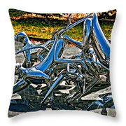 Then The Trouble Started Throw Pillow