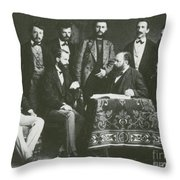 Theodor Billroth And Assistants Throw Pillow