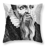Theodore De B�ze (1519-1605) Throw Pillow