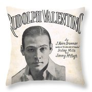 There's A New Star In Heaven Tonight Rudolph Valentino Throw Pillow