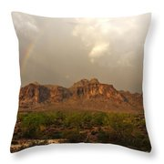 There's Gold At The End Of The Rainbow Throw Pillow