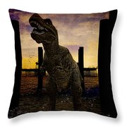 There's Probably No Bathing In Brighton Today Throw Pillow