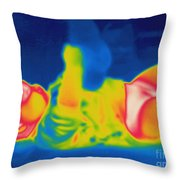 Thermogram Of A Baby Throw Pillow