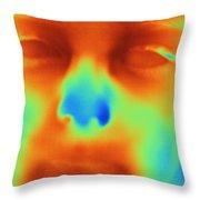 Thermogram Of A Boys Face Throw Pillow