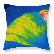 Thermogram Of A Child Sleeping Throw Pillow