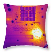 Thermogram Of A Computer Board Throw Pillow