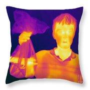 Thermogram Of A Hidden Gun Throw Pillow