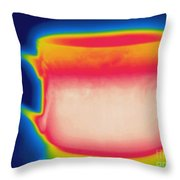 Thermogram Of A Hot Coffee Cup Throw Pillow
