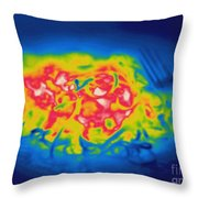 Thermogram Of A Hot Plate Of Spaghetti Throw Pillow