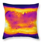 Thermogram Of A Hot Toast Throw Pillow
