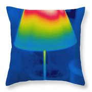 Thermogram Of A Lamp Throw Pillow