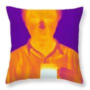 Thermogram Of A Man Throw Pillow