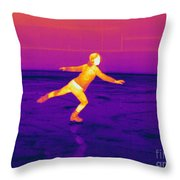 Thermogram Of A Skater Throw Pillow