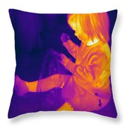 Thermogram Of A Young Girl Throw Pillow