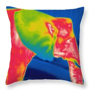 Thermogram Of An Elephant Throw Pillow