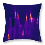 Thermogram Of Candles Throw Pillow