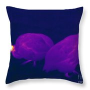 Thermogram Of Guineafowl Throw Pillow