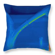 Thermogram Of Hot Water And A Faucet Throw Pillow