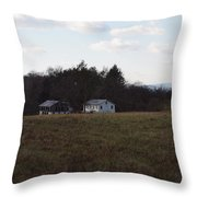 These Old Barns Throw Pillow