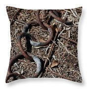 These Rusty Chains Throw Pillow