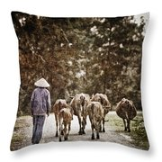 They Walk Together Throw Pillow