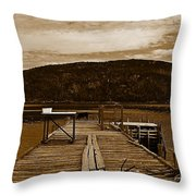They Were Here Throw Pillow