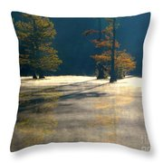 Thick Mist Throw Pillow