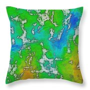 Thick Paint Throw Pillow