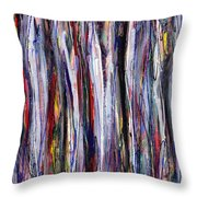Thicket In Ice Throw Pillow