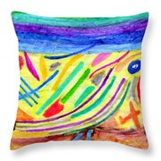Things Are Falling One Month Before Nine Eleven Throw Pillow